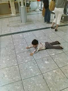 仙台空港にて