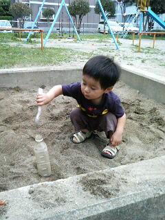 砂場で遊ぶの巻